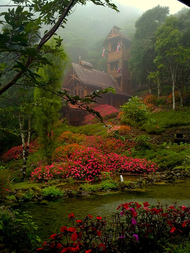 A chapel nestled in the cloudforest, Costa Rica