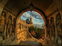 Ancient Castle, Fisherman's Bastion, Budapest , Hungary