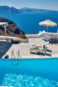 Swimming Pool at Canaves Oia Hotel, Santorini, Greece