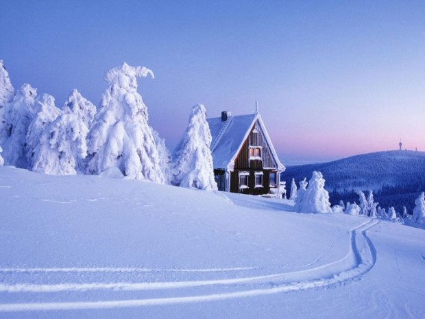 Landscapes Winter Snow House