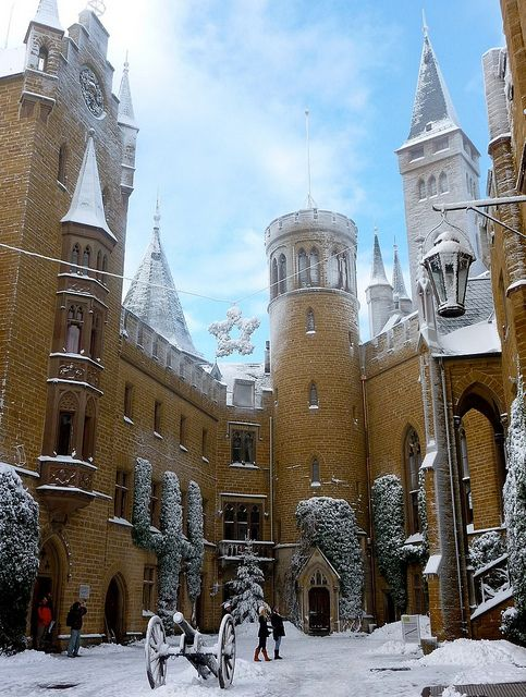 Snow Frosting, Burg-Hohenzollern Castle, Germany