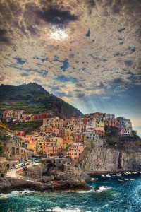 Wonderful view of Cinque Terre, Italy