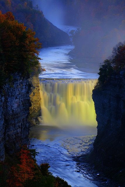 Amazing View of Genesee River, New York, USA