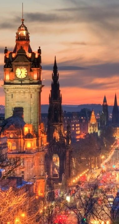 Balmoral Hotel Clock Tower, Edinburgh, Scotland