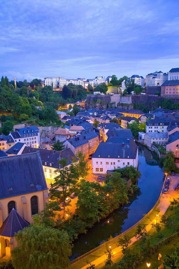 Luxembourg City at Twilight