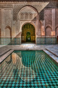 Marrakech architecture has magnificent detail, Morocco