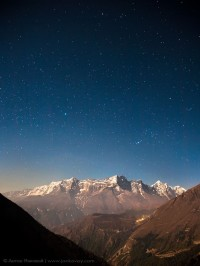 Stars above the Himalayas