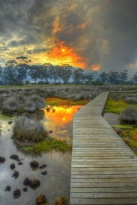Sunset at Knysna Lagoon, South Africa