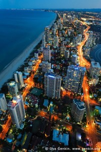 Surfer's Paradise after Sunset, Gold Coast, QLD, Australia
