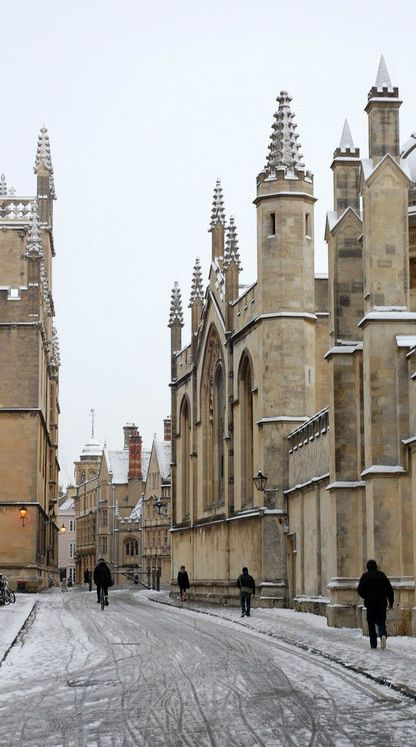 Snowy Day, Oxford, England