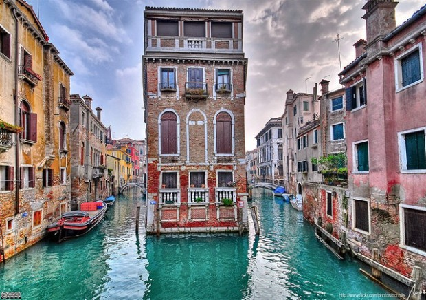 Two canals, Venice, Italy