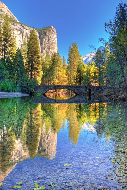 Autumn Reflection, Yosemite National Park, California, USA