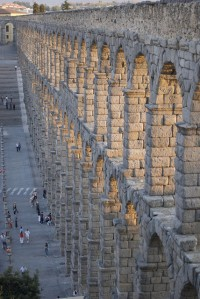 The roman Aqueduct of Segovia, Spain