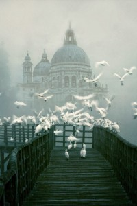 Venice in the fog, Italy