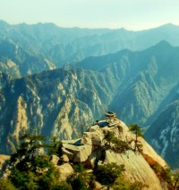 Chinese Temple, Huashan Mountain, China