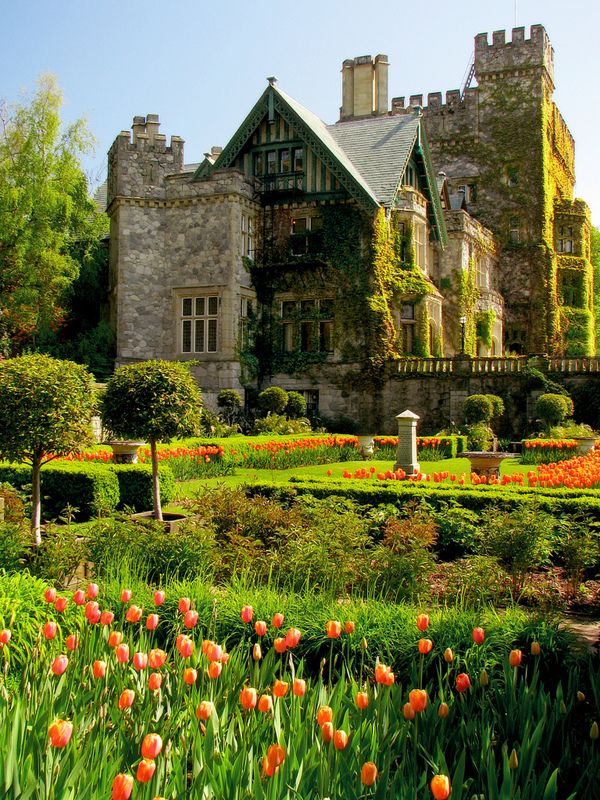 Hatley Castle and Hatley Park in Victoria, Vancouver Island, British Columbia, Canada