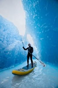 Stand Up Paddleboard, Glaciers, Chile