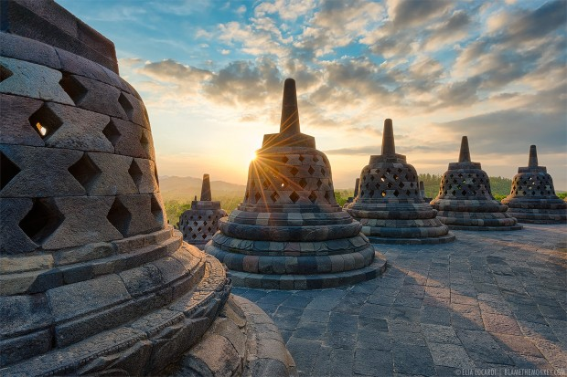 Sunset in Beyond Borobudur, Java, Indonesia