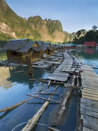 Water bungalows in Khao Sok National Park, Thailand