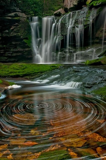 Elakala Waterfalls, Blackwater Falls State Park, West Virginia, USA