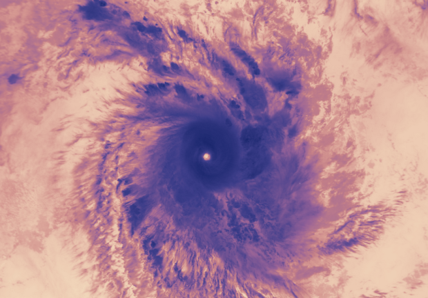 Exciting scenes from space to eye Hurricane Helene is located between Madagascar and the Comoros