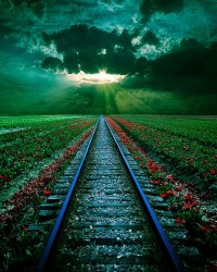 Rail Sunset, Romania