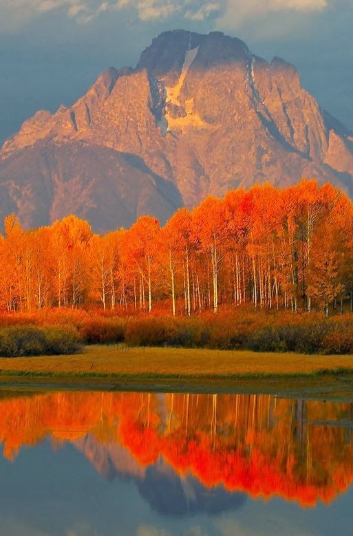 Autumn in the Grand Tetons, Jackson Hole, Wyoming, USA