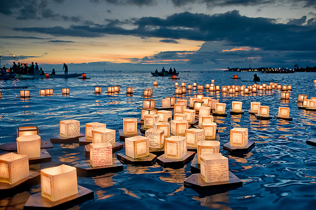 Floating Lantern Festival, Honolulu, Hawaii, USA