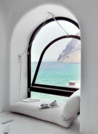 Reading Nook, Santorini, Greece
