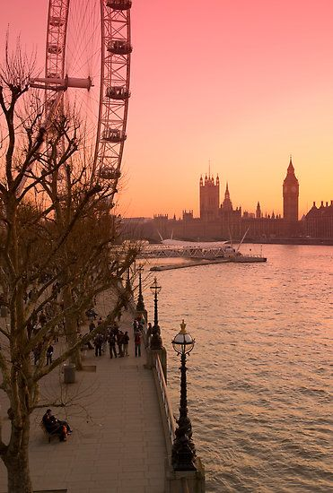 Big Ben and London Eye, England