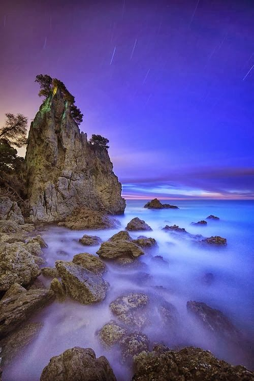 Costa Brava Nigth, Catalonia, Spain