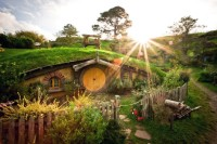 Hobbiton, farmland near Matamata in the North Island of New Zealand