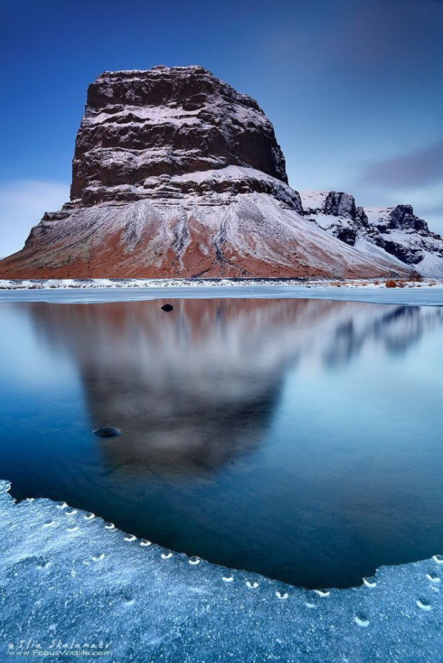 Three Sisters, Lomagnupur Mountain, Iceland