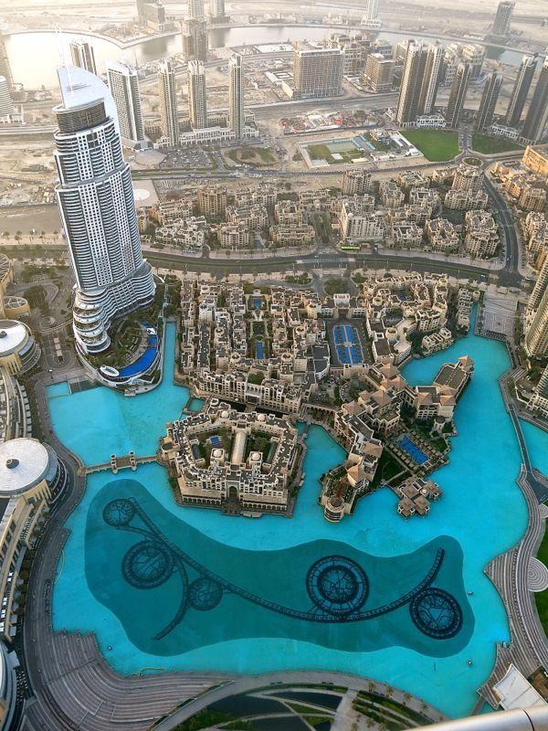 Stunning view from Burj Khalifa in Dubai, UAE