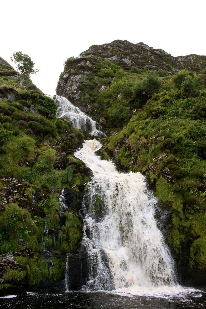 Eas a' Ranca Waterfall at Ardara, County Donegal, Ireland
