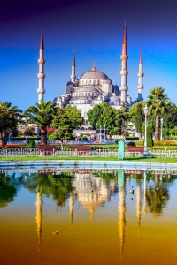 Beautiful View of Blue Mosque in Istanbul, Turkey